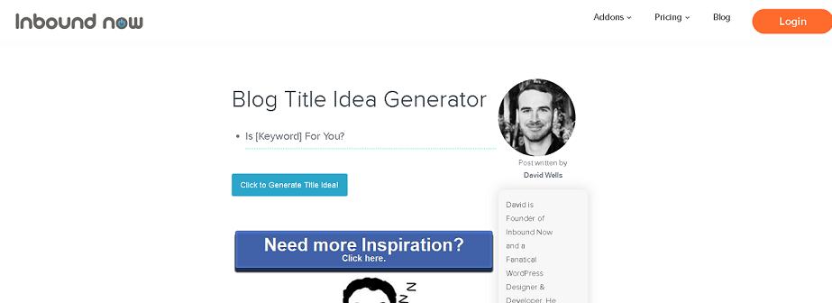 Inbound Now - Blog Post Idea Generator