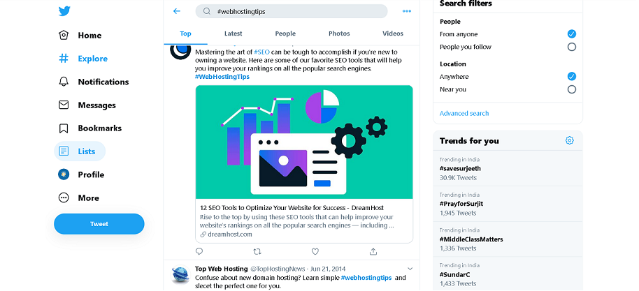 Twitter - Best Source to Find Trending Blog Topics