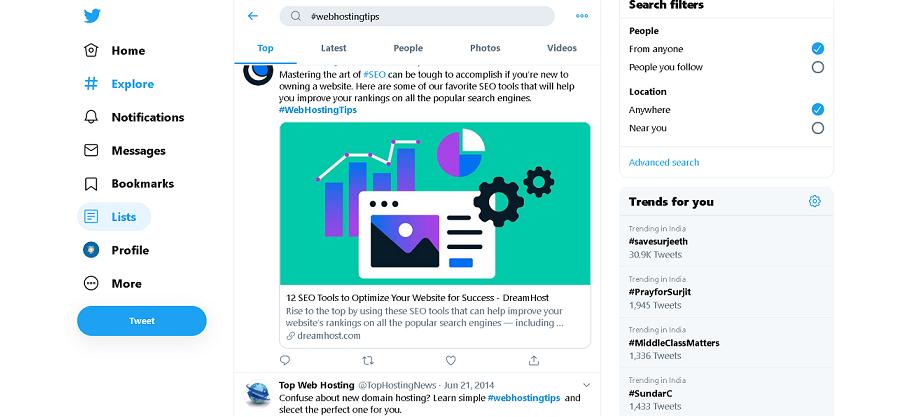 Twitter - Best Source to Find Trending Blog Topics