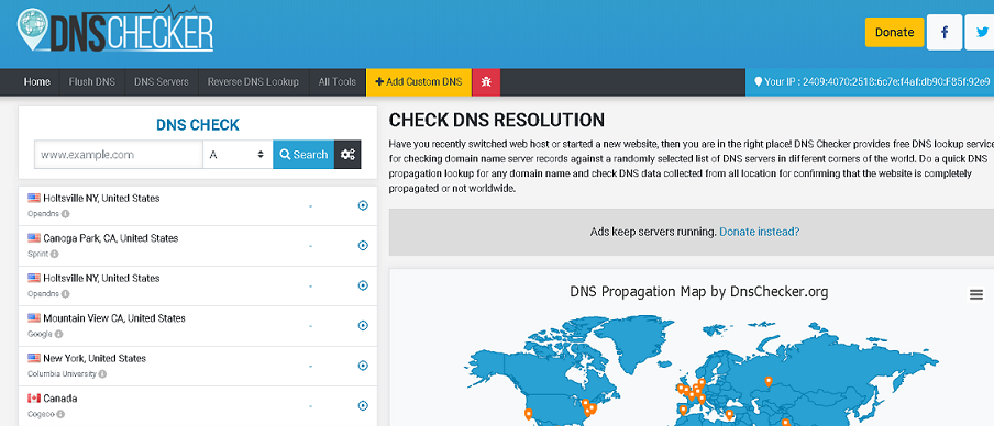 DNS Propagation Checker