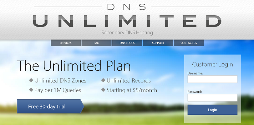 dnsunlimited Tool to Lookup DNS information