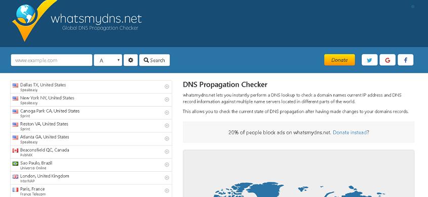 whatmydns DNS Tool