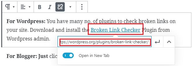 External Linking - WordPress Tutorials