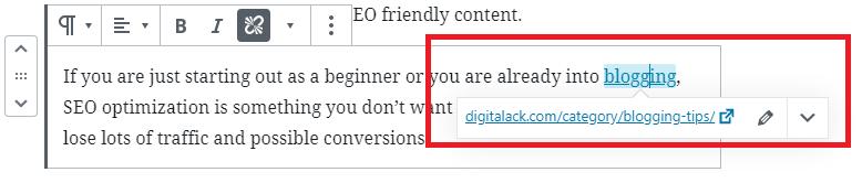 Interlink with your older blog posts