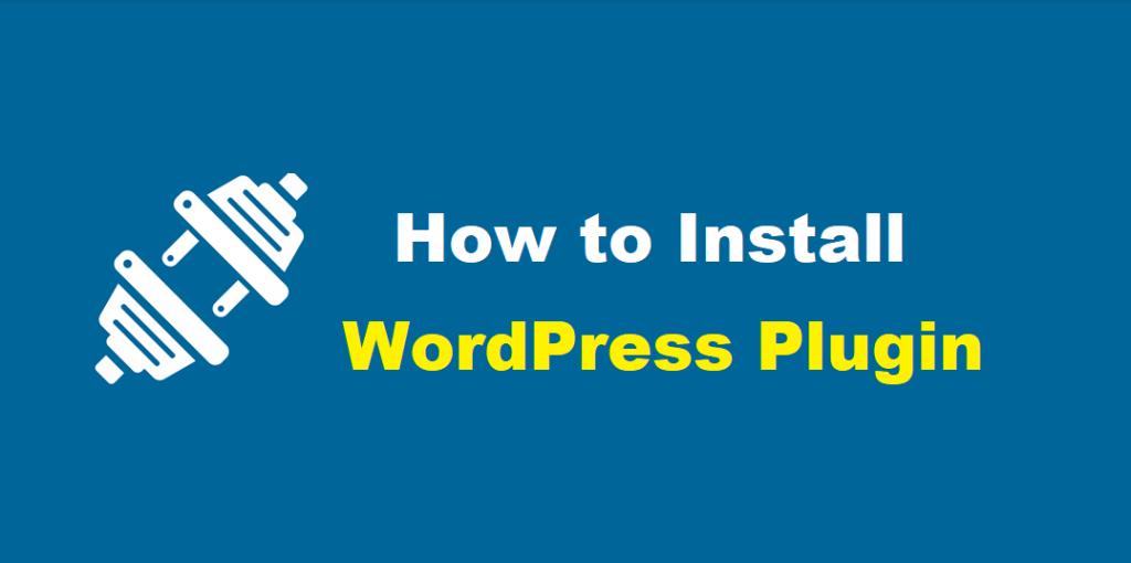 how to install wordpress plugins