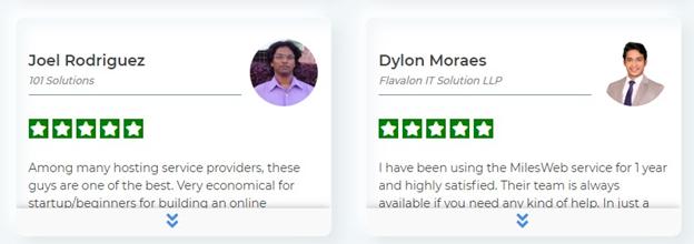 MilesWeb Customer Reviews